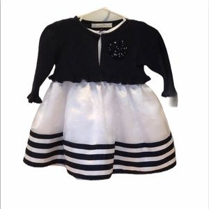 American Princess navy and white 12 month dress
